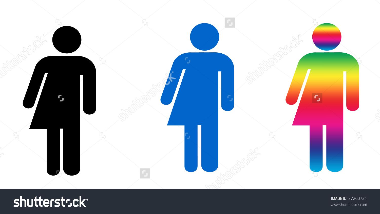 Set Three Symbols Illustrating Gender Variance Stock Illustration.