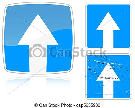 Vector Clipart of Variants a Road with one.