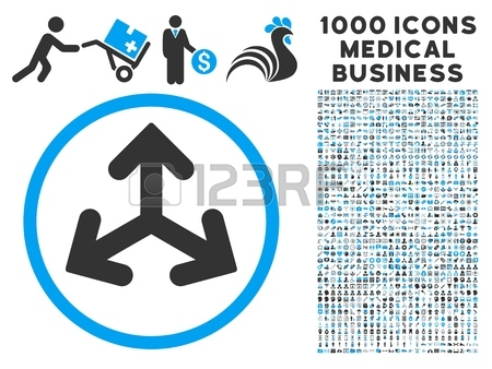 Direction Variants Icon With 1000 Medical Commerce Gray And Blue.