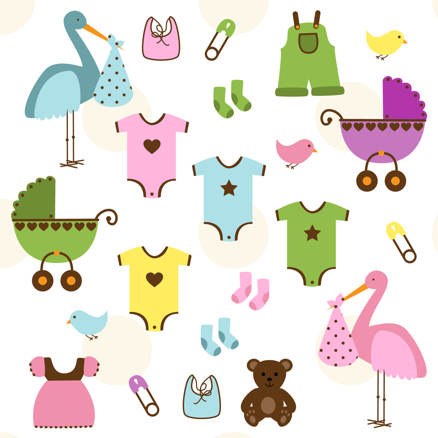 Baby shower clipart: variants for 2016, printable cliparts for free.