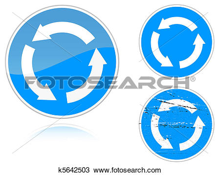 Clipart of Variants a Circular motion.