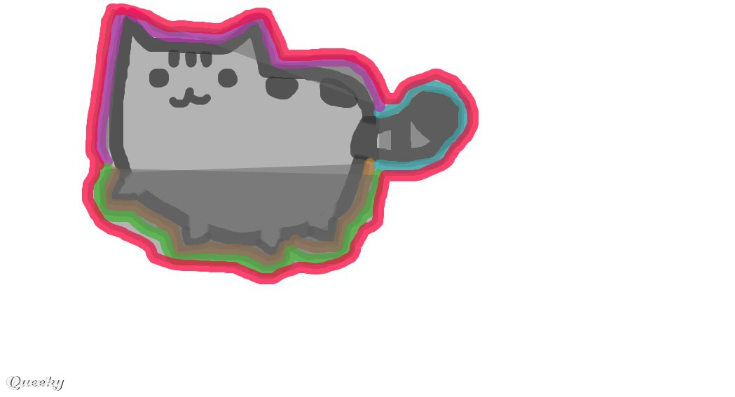 PUSHEEN COLOR ← an abstract Speedpaint drawing by Yolo4ever.
