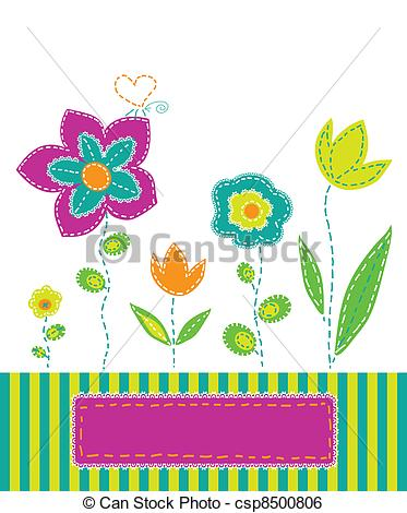 Clip Art Vector of variegated.