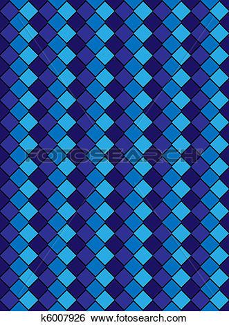 Stock Illustration of Jpg, Blue Variegated Diamond k6007926.