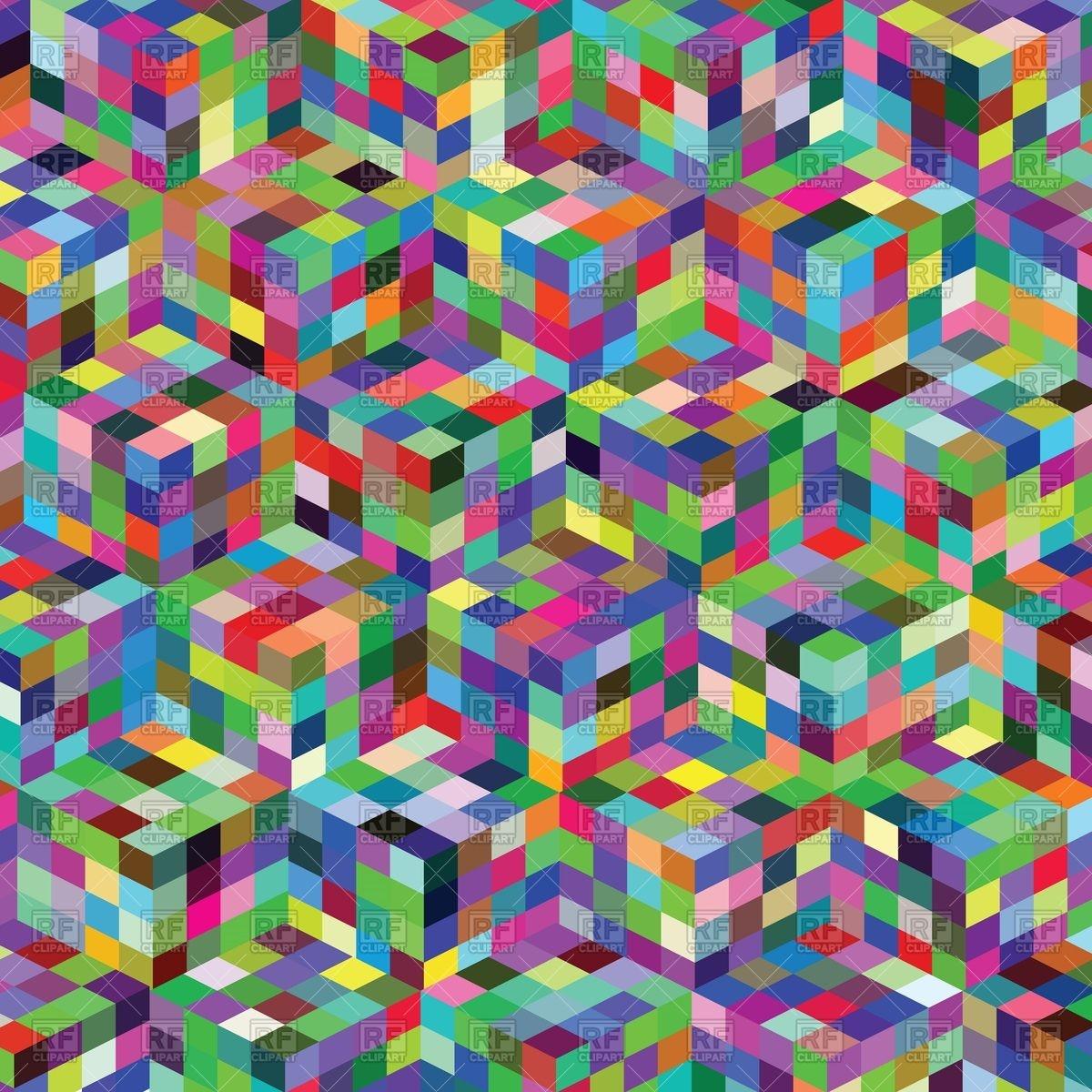 Variegated kaleidoscopic pattern.