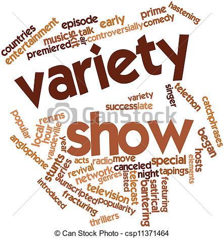 Variety show clip art.