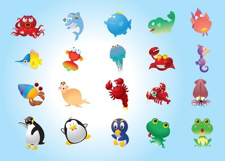 Animal variety clipart.