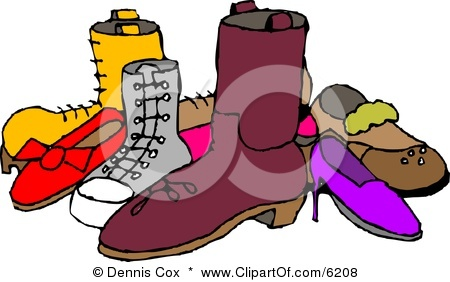 Various Shoes Clipart.