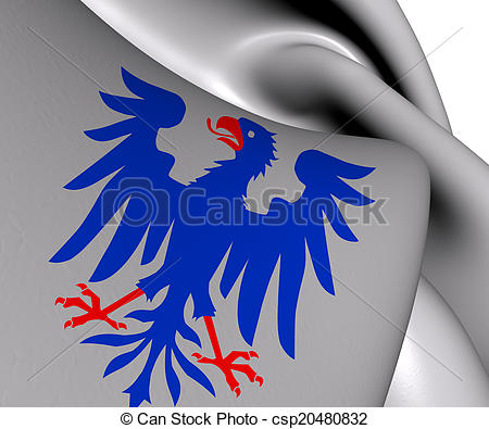 Drawings of Flag of Varmland County, Sweden. Close Up. csp20480832.