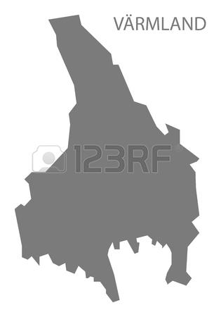 Varmland Sweden Map Grey Royalty Free Cliparts, Vectors, And Stock.