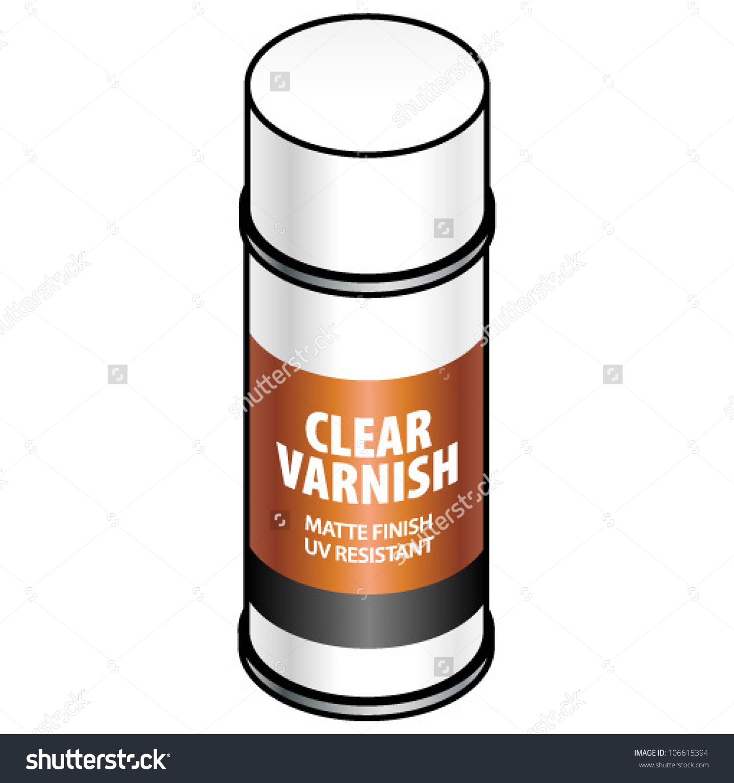 Can you varnish over clipart.