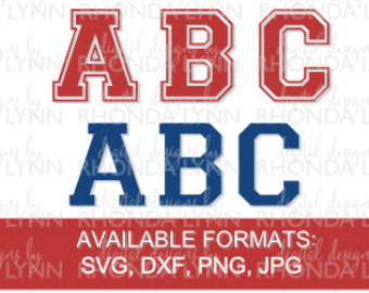 Varsity font.