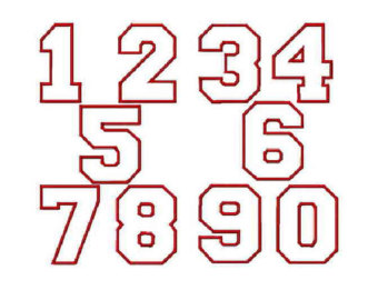 Varsity Numbers Clipart.