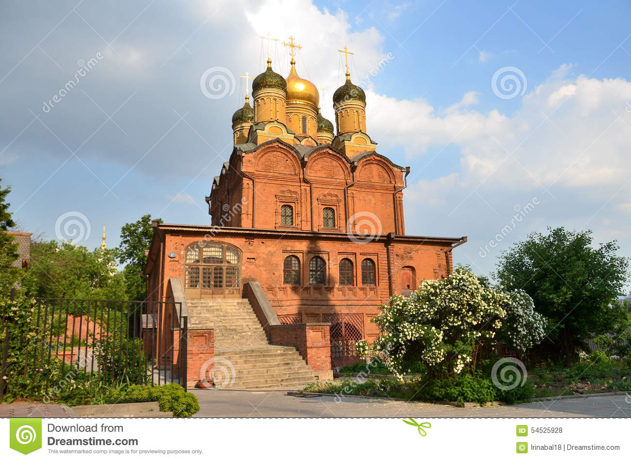 Russia, Moscow, Znamensky Cathedral In Znamensky Monastery On.