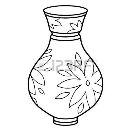 Vase clipart black and white 3 » Clipart Station.