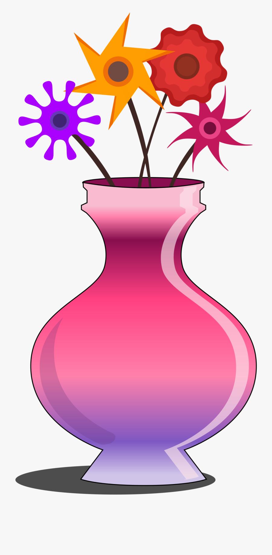 Transparent Flower Vase Clipart.