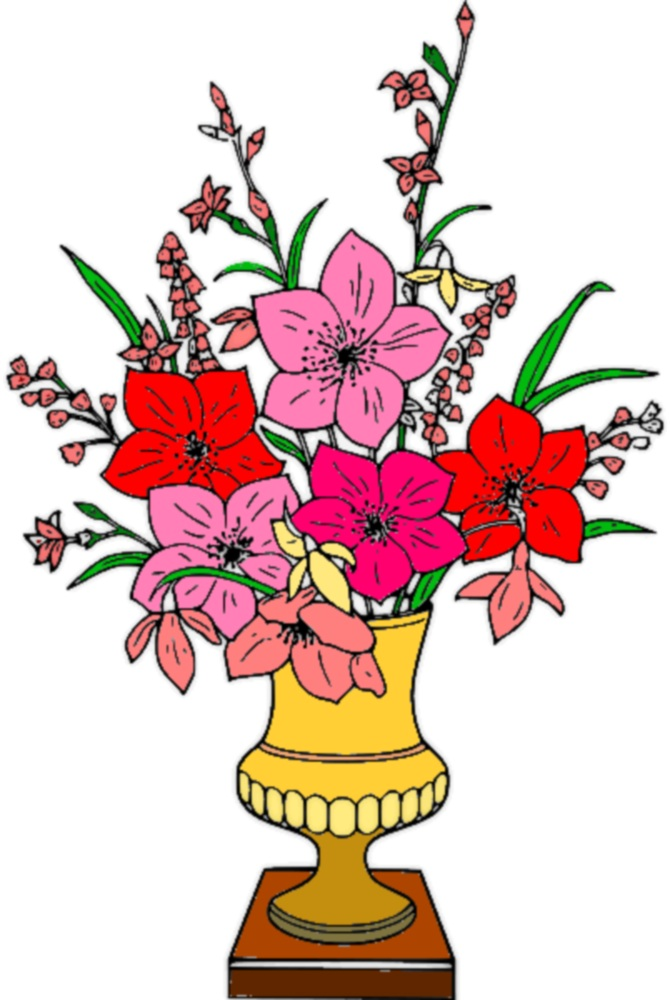 Free photo: Vase of flowers clipart.