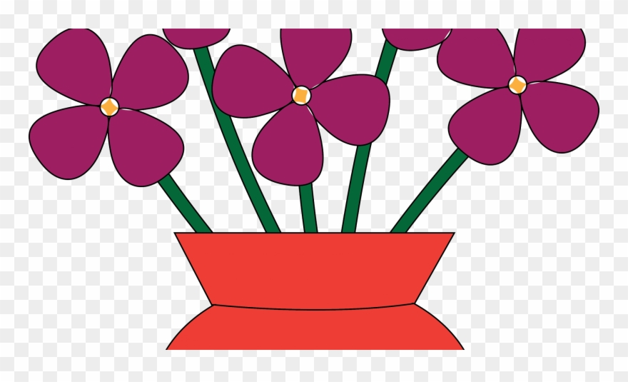 Flower Vases With Flowers Clipart.