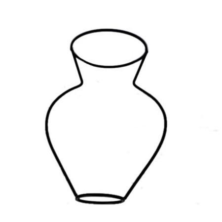 Simple Outline Wire Vase.