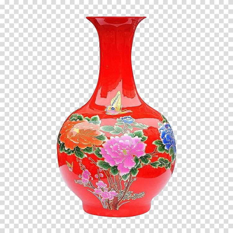 Jingdezhen Yuncheng County Vase Ceramic Porcelain, vase.