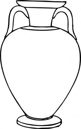Vase Clipart Black And White.