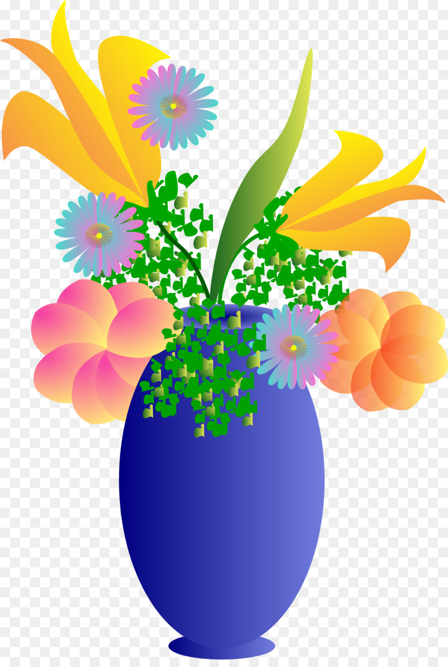 Flowers In Vase png download.