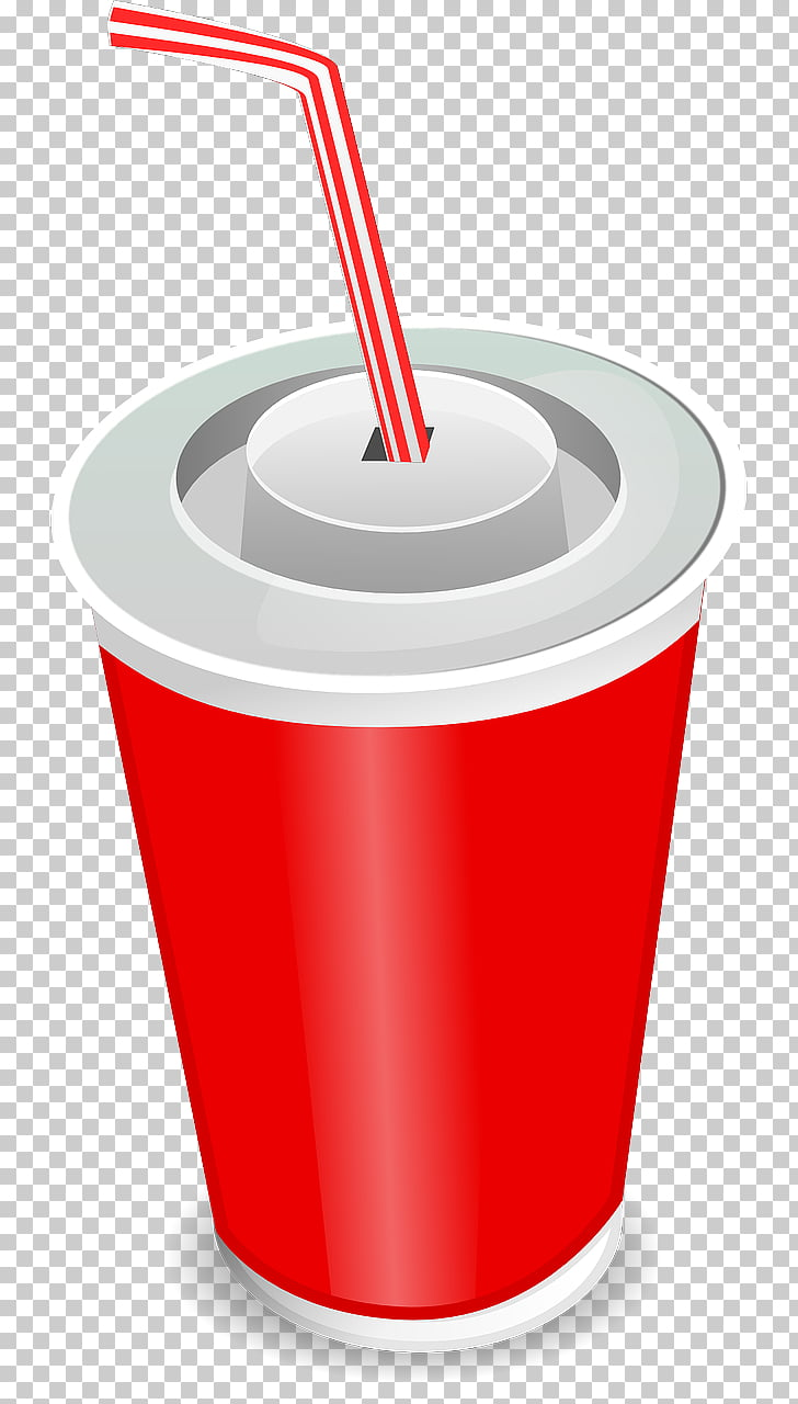 Fizzy Drinks Juice Smoothie Cola , SODA, red disposable cup.