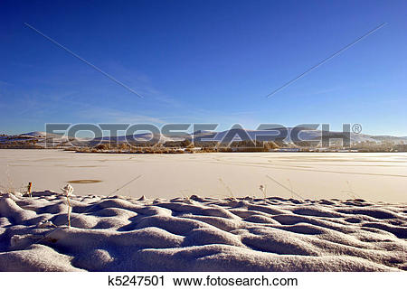 Stock Photography of vast expance of frozen water k5247501.