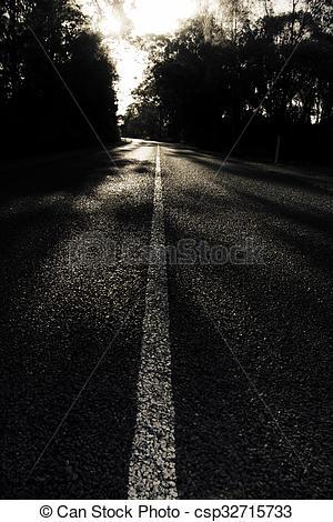 Stock Photos of Dark Road Of Shadows.