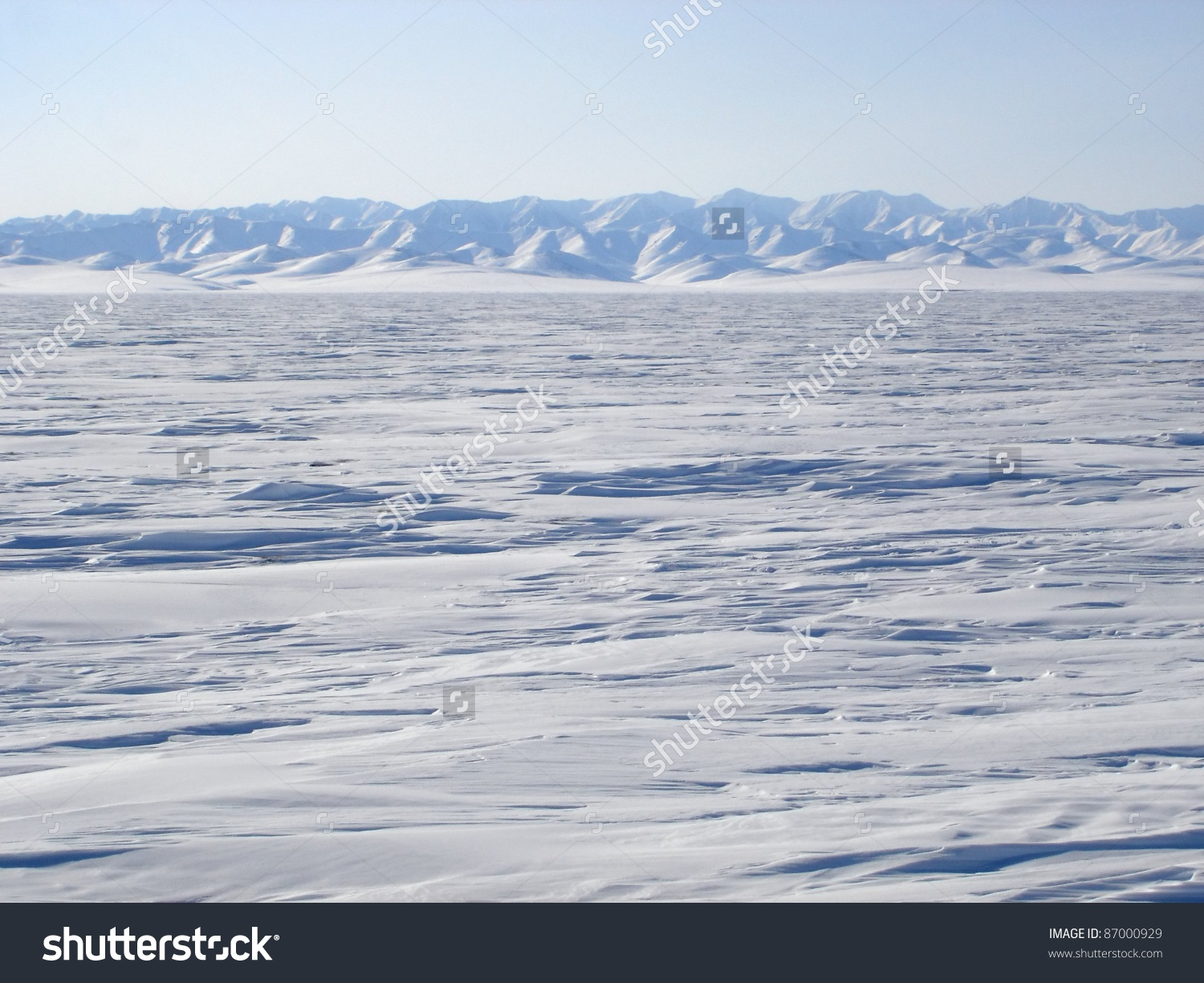 A View Of The Vast Arctic Landscape From The Edge Of The Arctic.