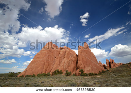 Arches National Peaks Sandstone Stock Photos, Royalty.