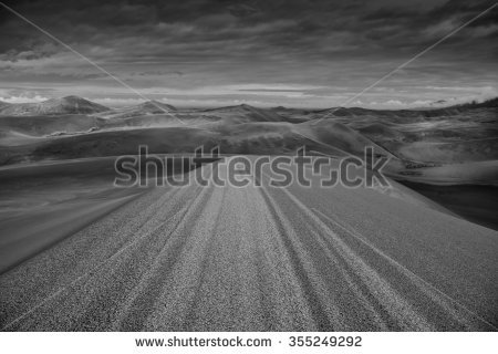 Sand Dunes Detail Black White Stock Photos, Images, & Pictures.