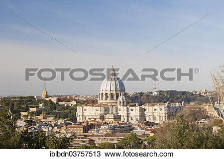 """Stock Photo of """"Vatican City and Saint Peter's Basilica from."""