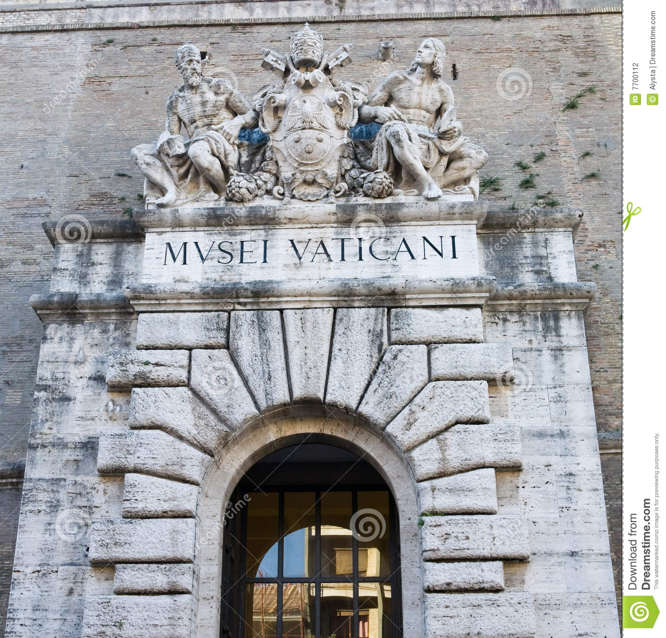 Vatican Museum Entrance Stock Photography.