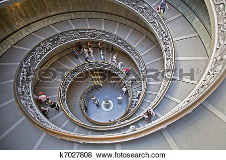 Pictures of Spiral Staircase in the Vatican Museum k7027808.