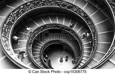 Picture of Vatican Museum staircase.