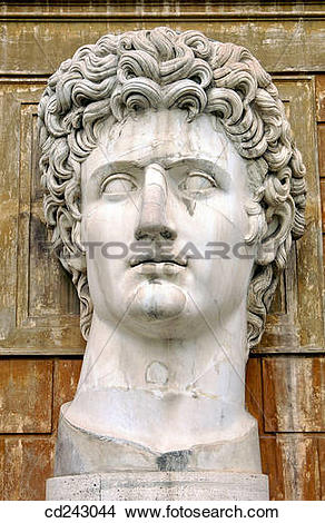 Stock Photo of Head of statue in Vatican Museums. Vatican City.
