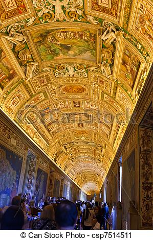 Stock Photography of Italy. Rome. Vatican Museums.