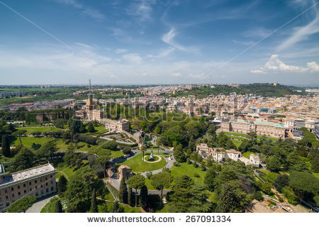 Aerial View Vatican City Rome Italy Stock Photo 267091133.