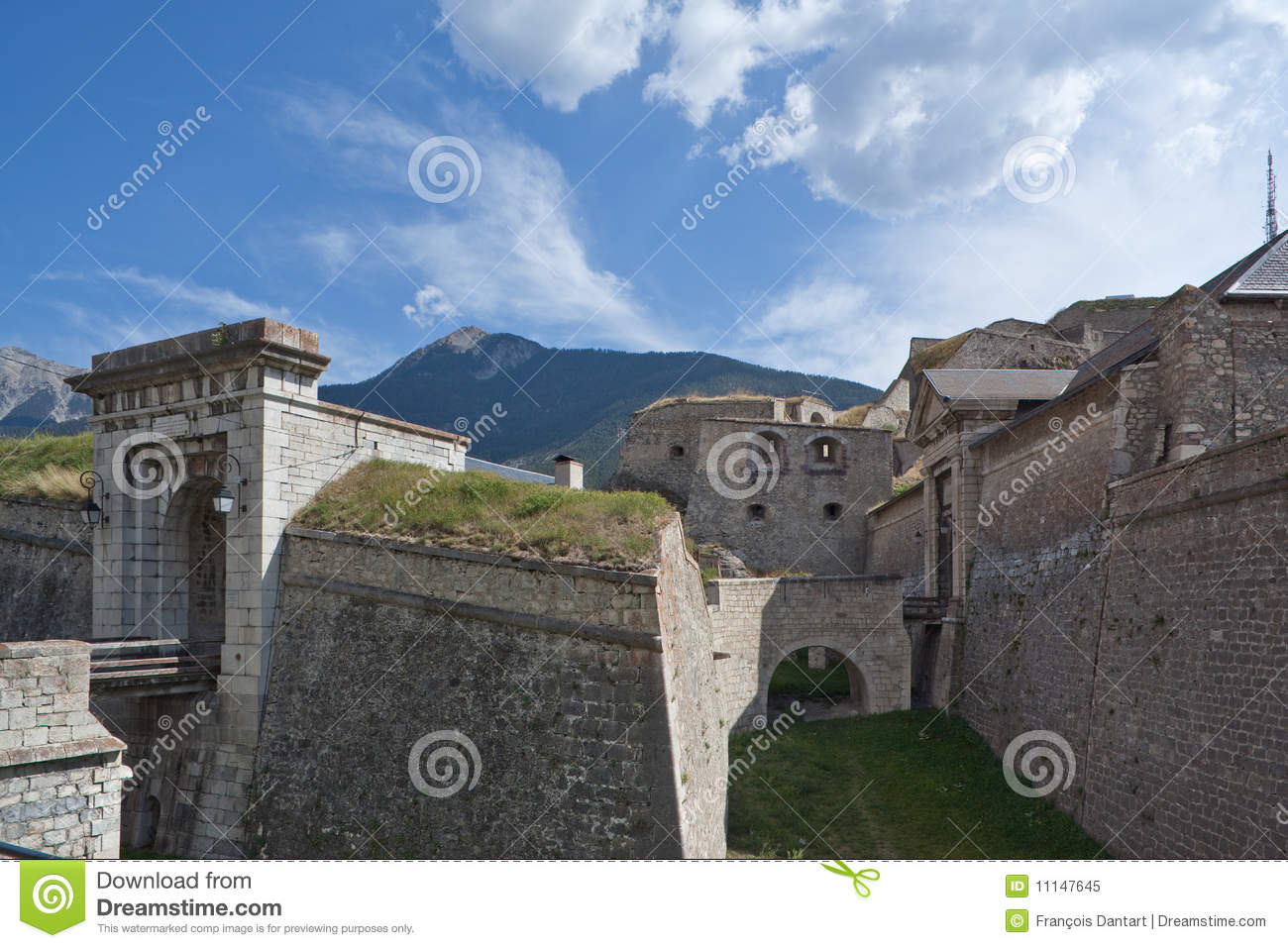 Fortifications Of Briancon By Vauban Royalty Free Stock Photo.