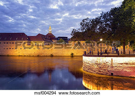 Stock Photo of France, Alsace, Strasbourg, Petite France, Barrage.