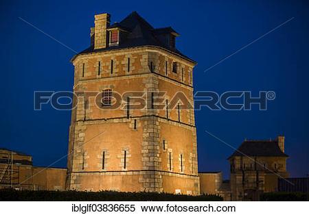 """Stock Image of """"Tour Vauban, tower, Camaret."""
