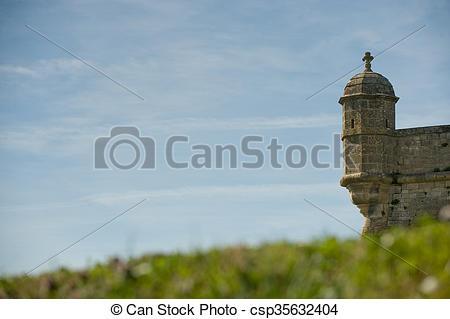 Stock Photography of Blaye citadel, France, Travel, Gironde.