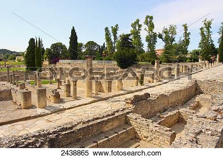 Stock Image of Old ruins of columns, Vaison.