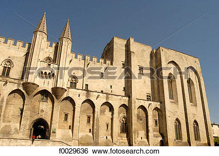 Stock Images of France, Vaucluse, Avignon, 14th century Palace of.