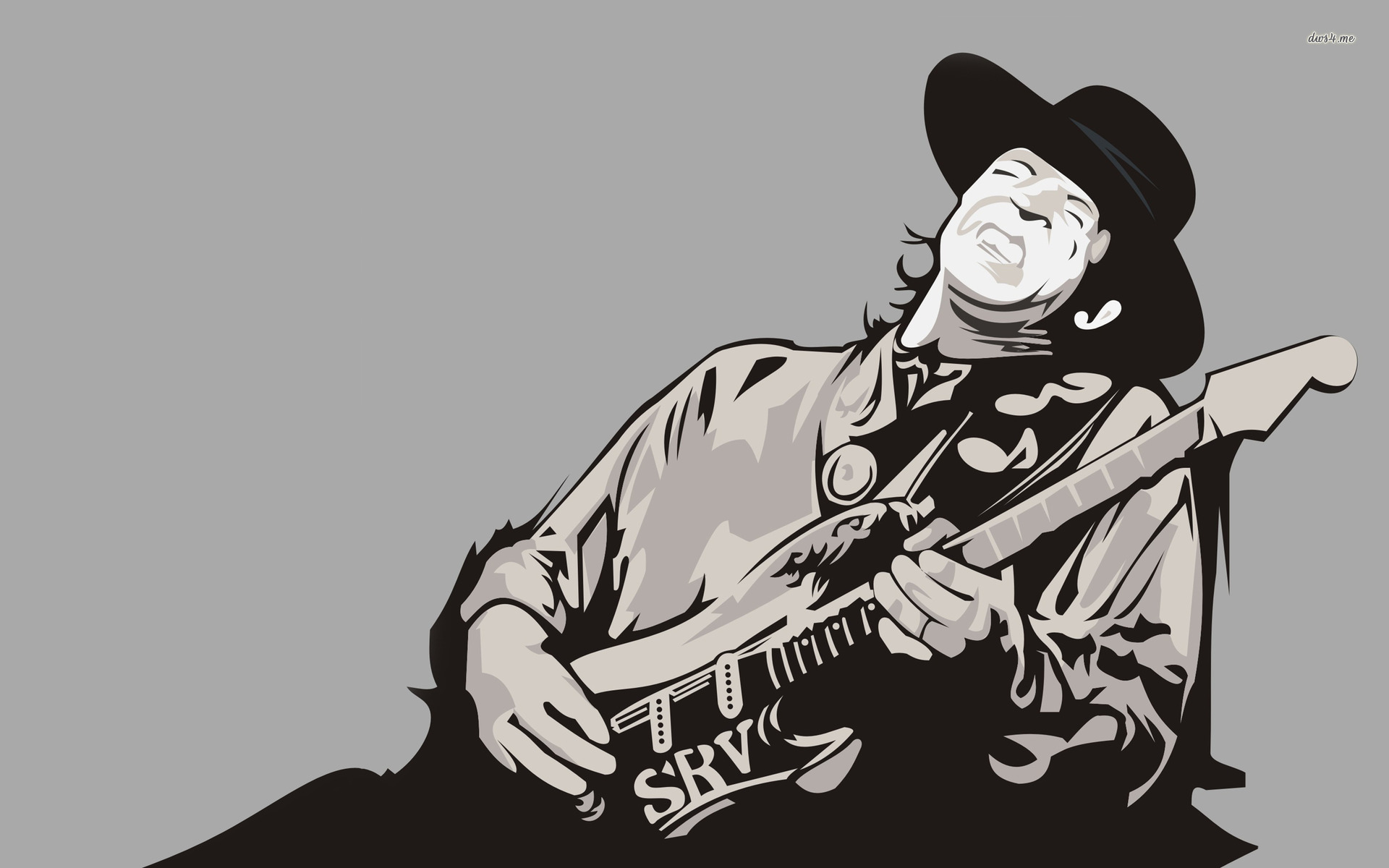Stevie Ray Vaughan Clipart.
