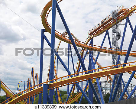 Stock Photograph of Behemoth roller coaster at Canada's Wonderland.