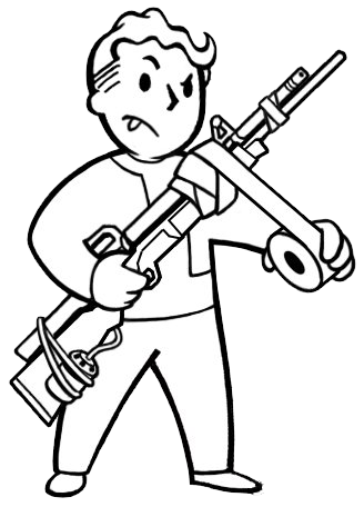 fallout vault boy coloring pages - photo#19