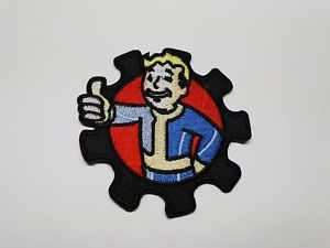 Details about Quality Iron/Sew on vault boy patch Fallout 76 logo game.