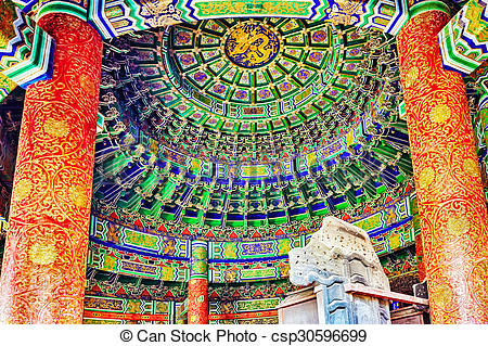 Stock Photographs of Inside in Imperial Vault of Heaven on the.